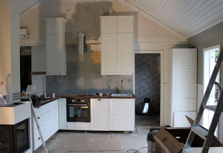 Renovering av ett kök i Löttorp, Öland